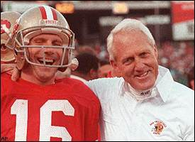 Bill Walsh con Joe Montana