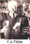 Y.A. Tittle, QB, Pro Football Hall of Fame (1971)