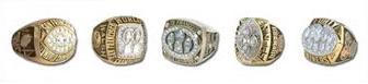 Gli anelli dei 5 Super Bowl vinti dai 49ers